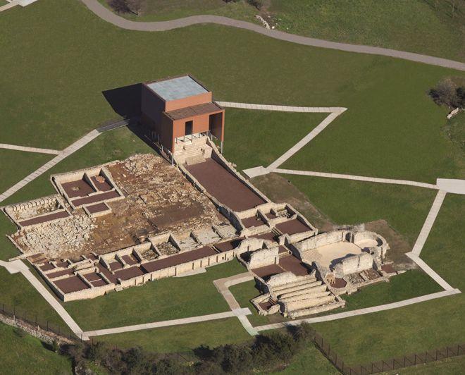 Vista aérea de la VR de Veranes (Gijón, Asturias)